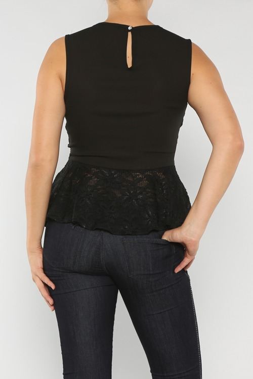Lace Peplum courtesy of GussiedUp.ca